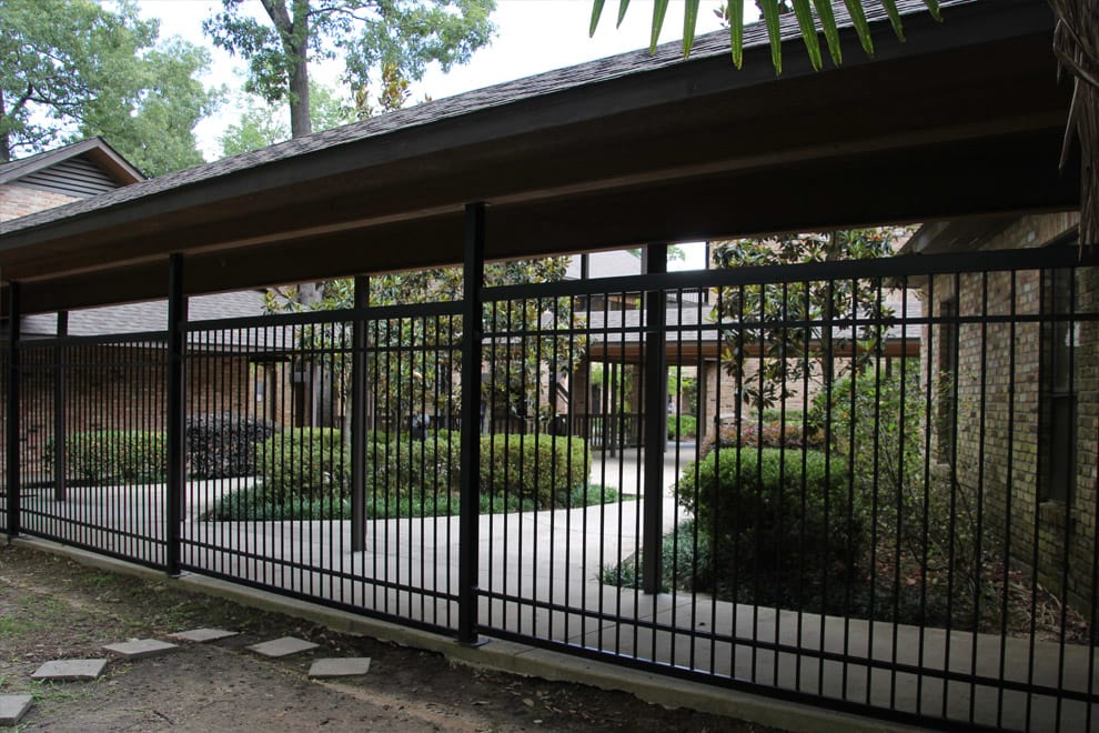 commercial wrought iron fence