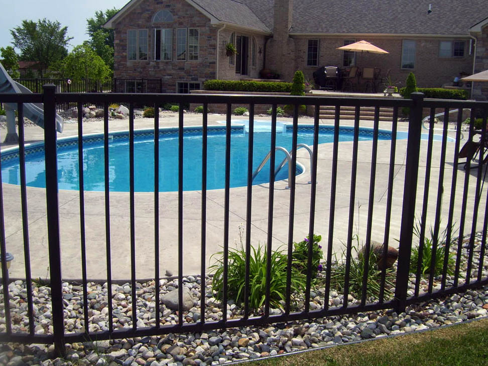 Phoenix iron pool fencing wrought fence