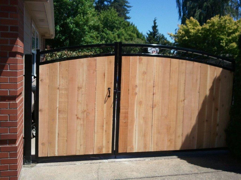 commercial wood gate